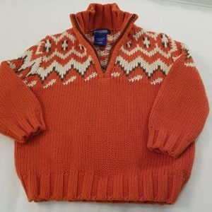 Boys Oshkosh Orange Sweater Size 18 Months